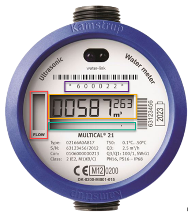Digitale Watermeter Scherm