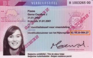 Identiteitskaart voorkant