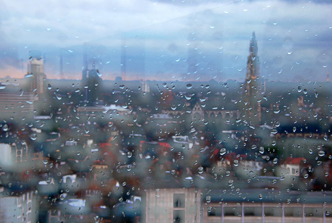 regen in Antwerpen